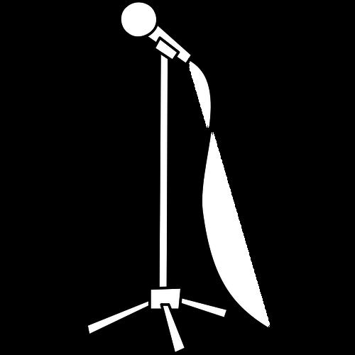 500x500 Simple Line Art Microphone Vector Graphics Public Domain Vectors