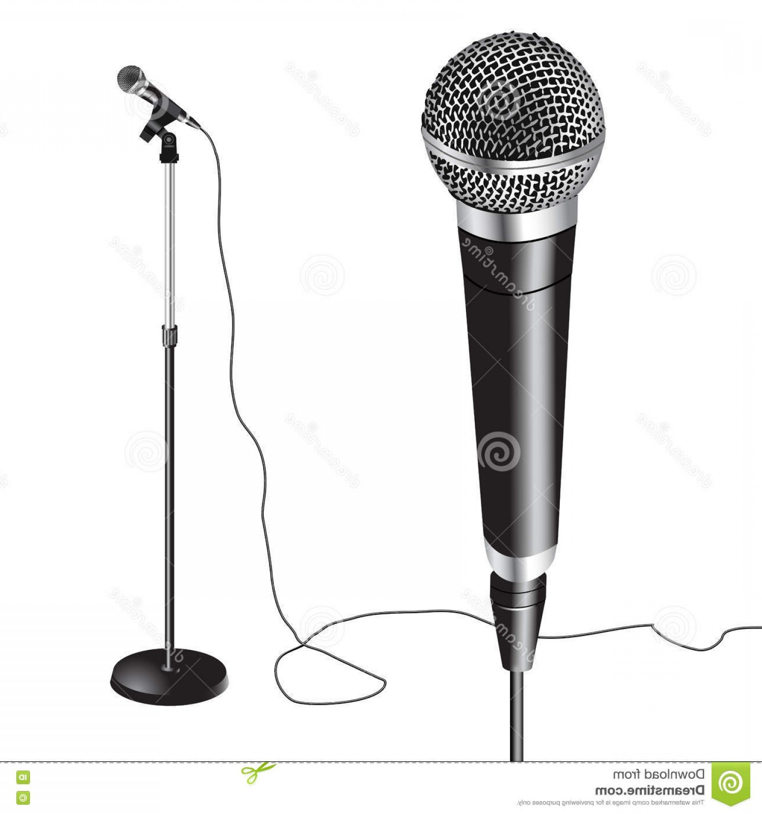 1560x1668 Stock Illustration Microphone Stand Vector Illustration White
