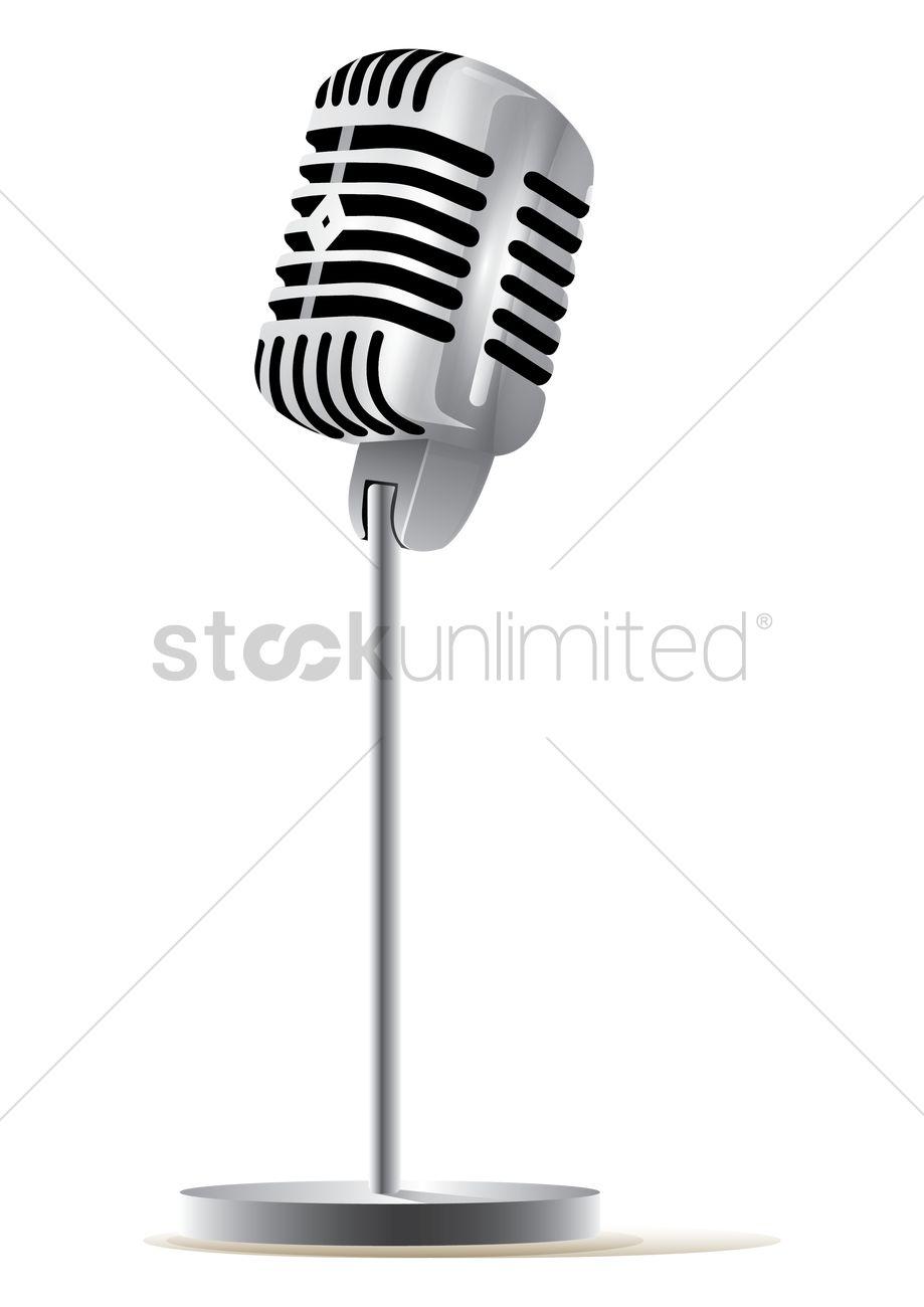 919x1300 Vintage Microphone Vector Image