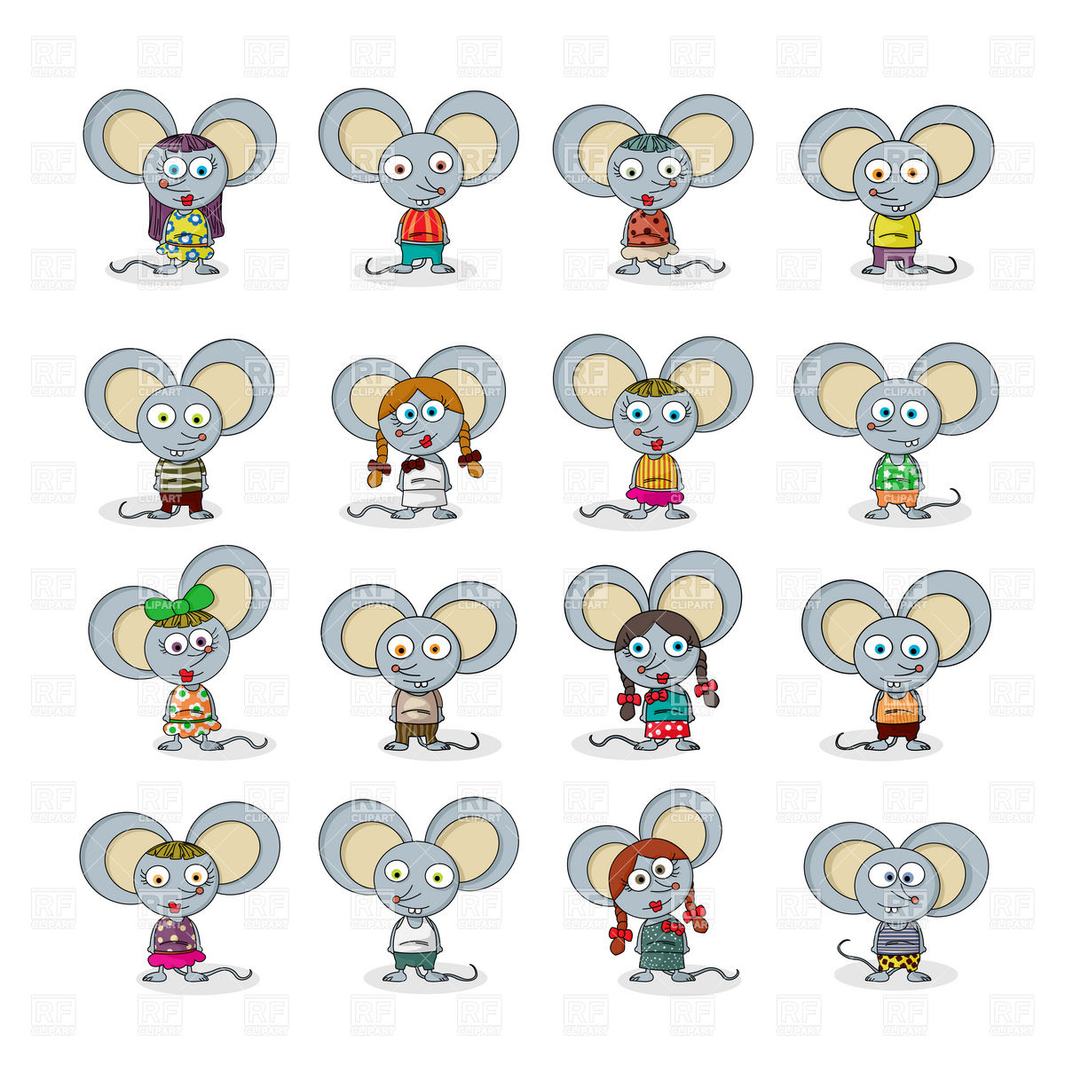 1200x1200 Funny Cartoon Mouse Character