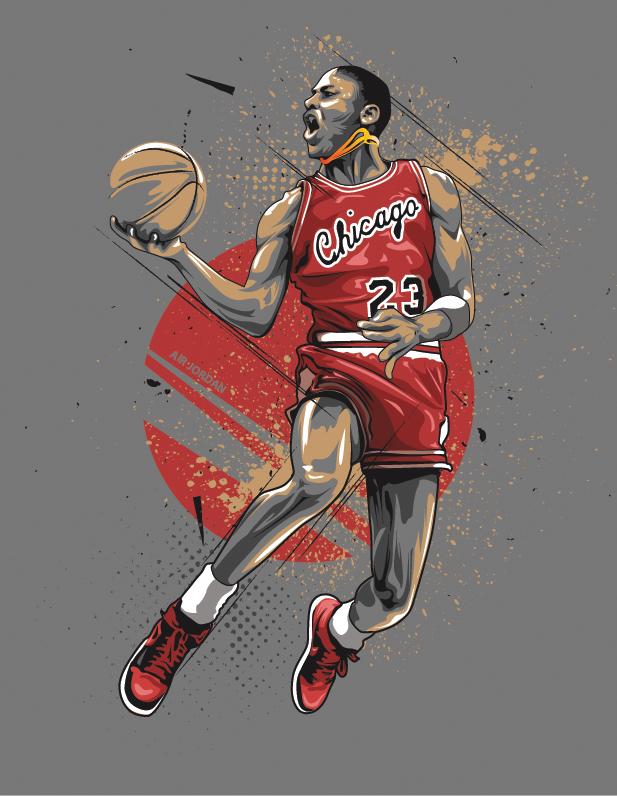 Michael Jordan Vector At Getdrawingscom Free For Personal