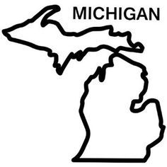 Michigan Outline Vector