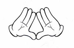 Mickey Hand Vector