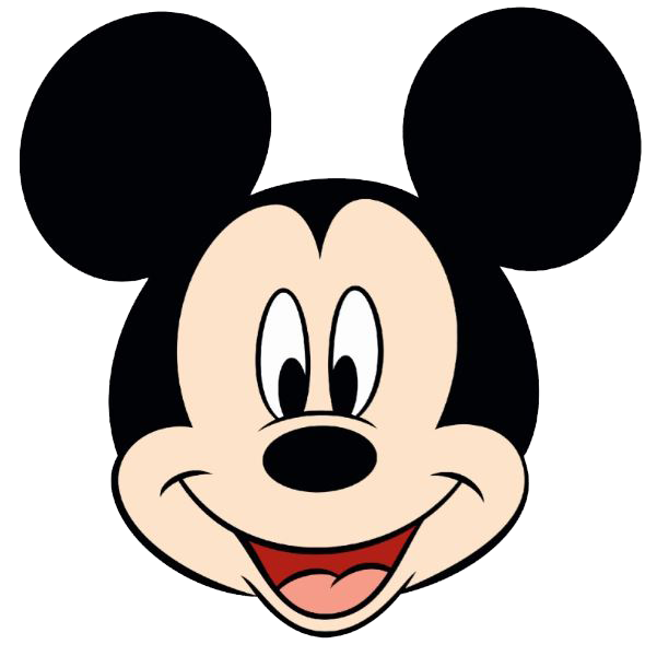 Mickey Mouse Face Vector