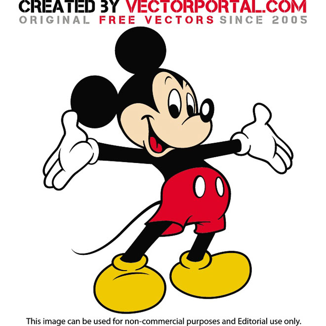 660x660 Mickey Mouse Vector Graphics