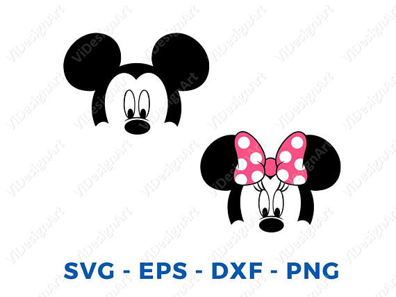 570x428 Mickey Minnie Mouse Layered Head Face Svg Png Vector Cut File