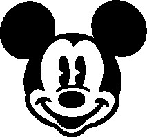 213x199 Mickey Mouse Head Silhouette 15 Vector