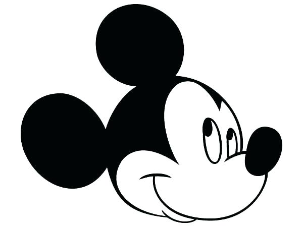 600x450 Mickey Mouse Head Silhouette Vector Template Silho Reflexapp