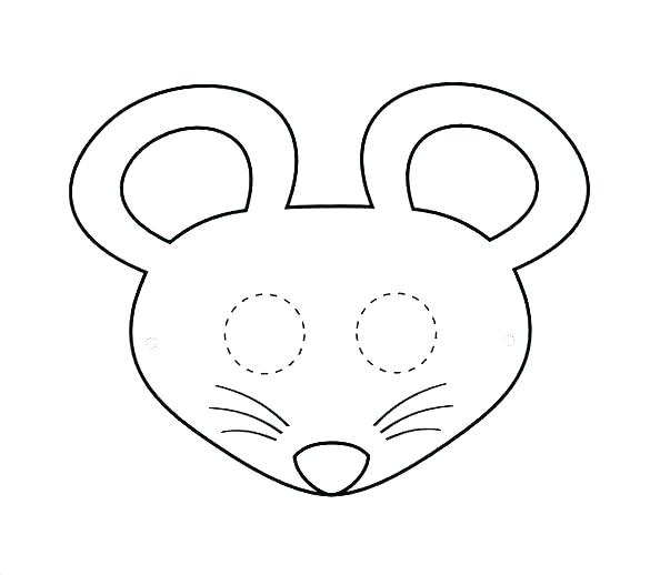585x518 Best Mickey Mouse Silhouette Ideas On Face Outline Template Free