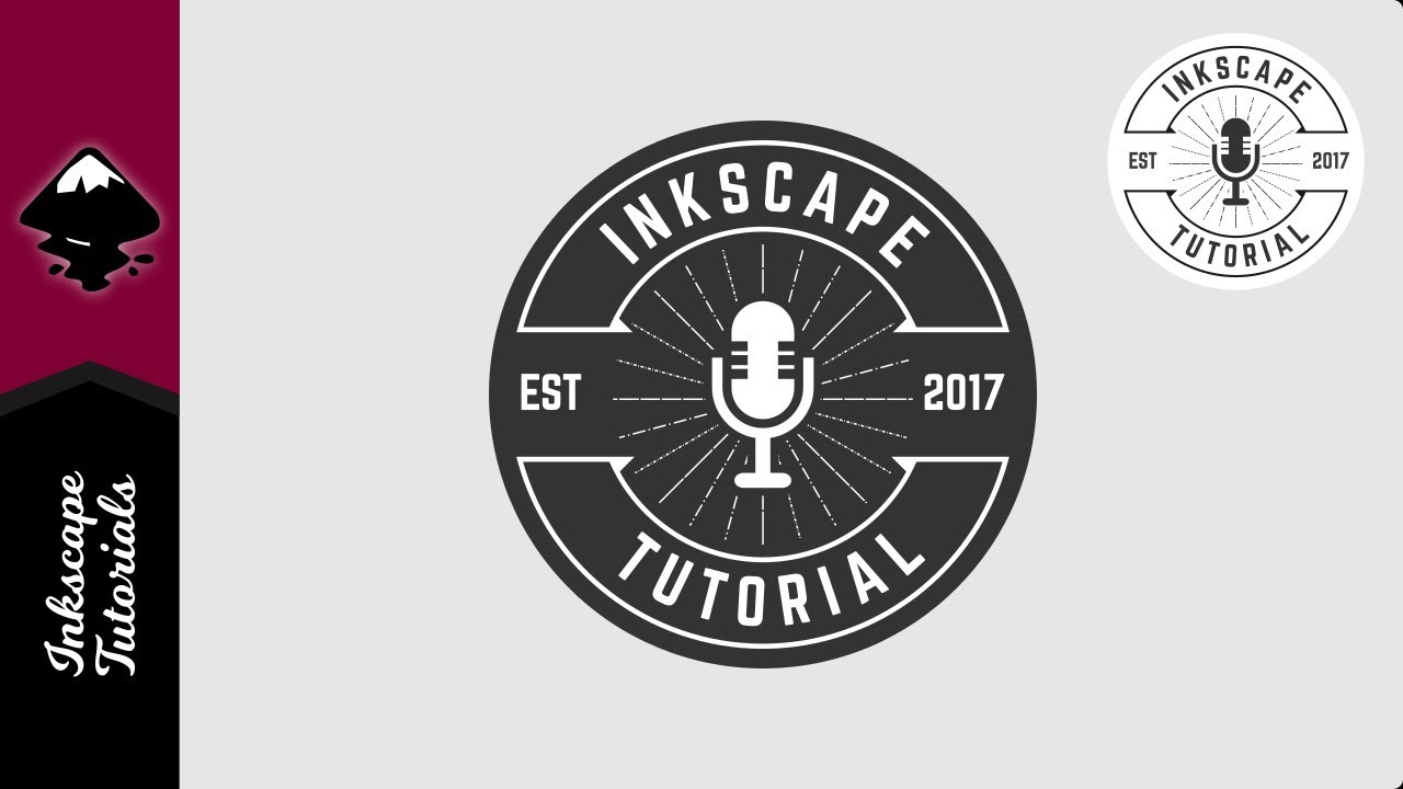 1280x720 Inkscape Tutorial Retro Vector Microphone Radio Music Logo