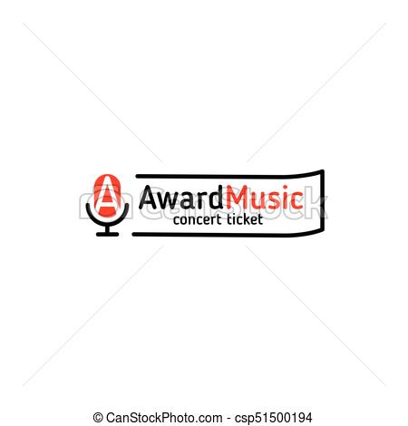 450x470 Isolated Vector Linear Microphone Logo For Music Festival Or Radio