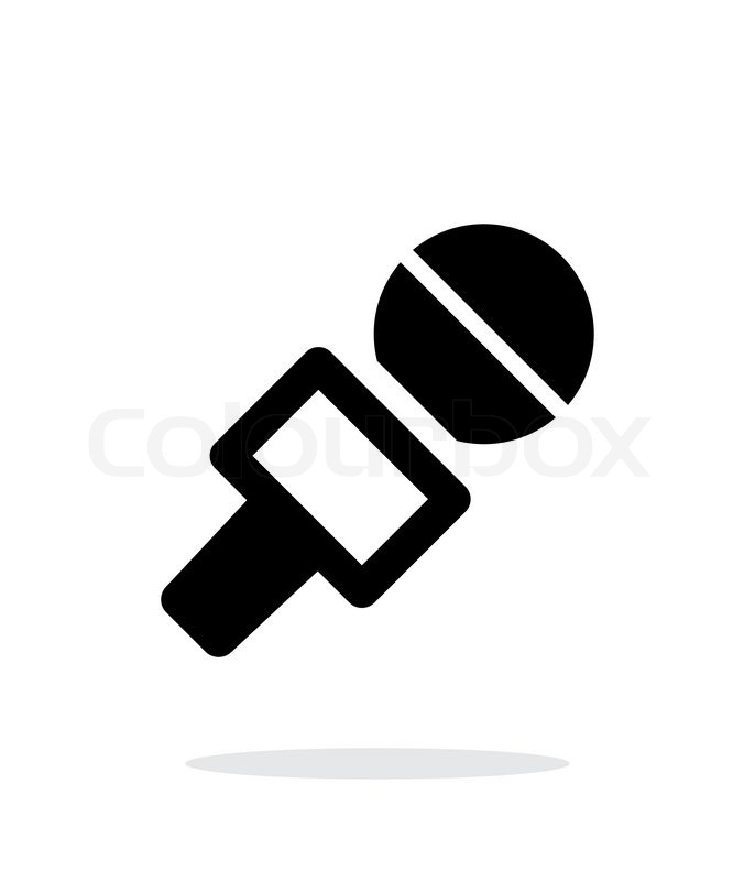 686x800 Journalist Microphone Icon On White Background. Vector