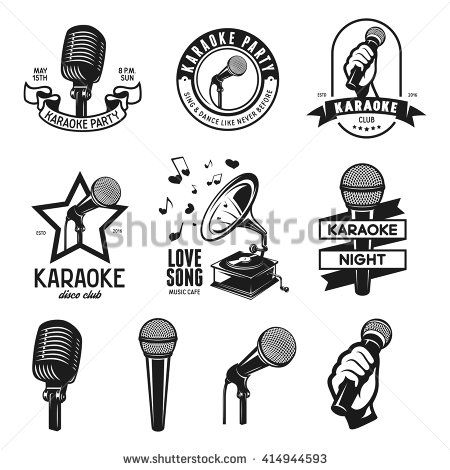 450x470 31 Best Karaoke Images Mic Logo Vector