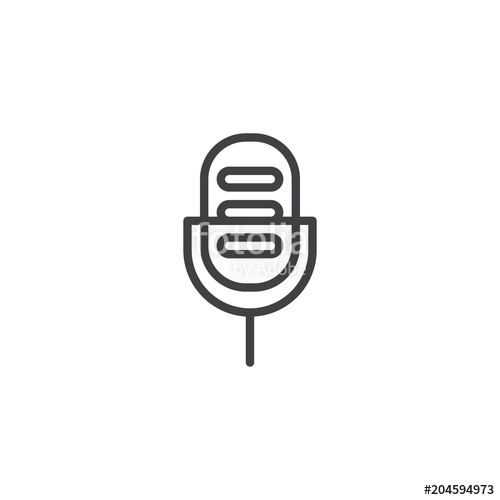 500x500 Microphone Outline Icon. Linear Style Sign For Mobile Concept And