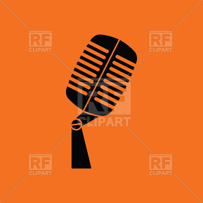 400x400 Old Microphone Icon Royalty Free Vector Clip Art Image Mic Logo