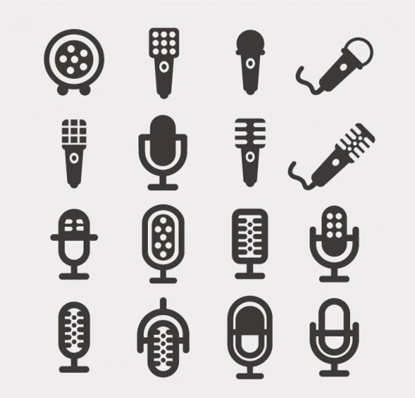 600x575 Microphone Icons