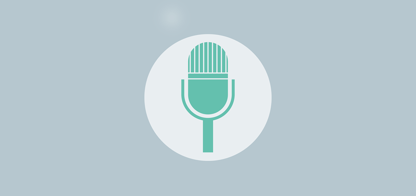 846x400 Microphone Vector Graphic
