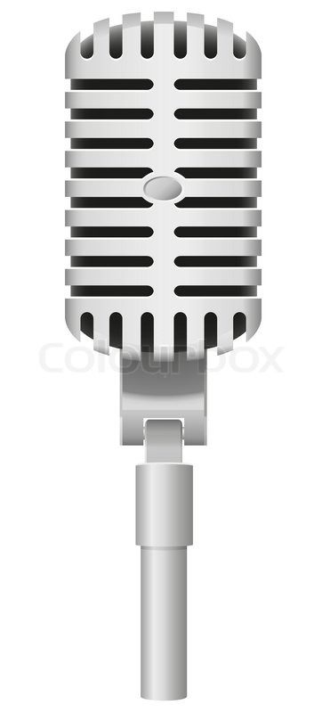 371x800 Old Microphone Vector Illustration Stock Vector Colourbox