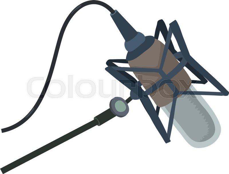 800x607 Studio Microphone Icon. Cartoon Illustration Of Studio Microphone