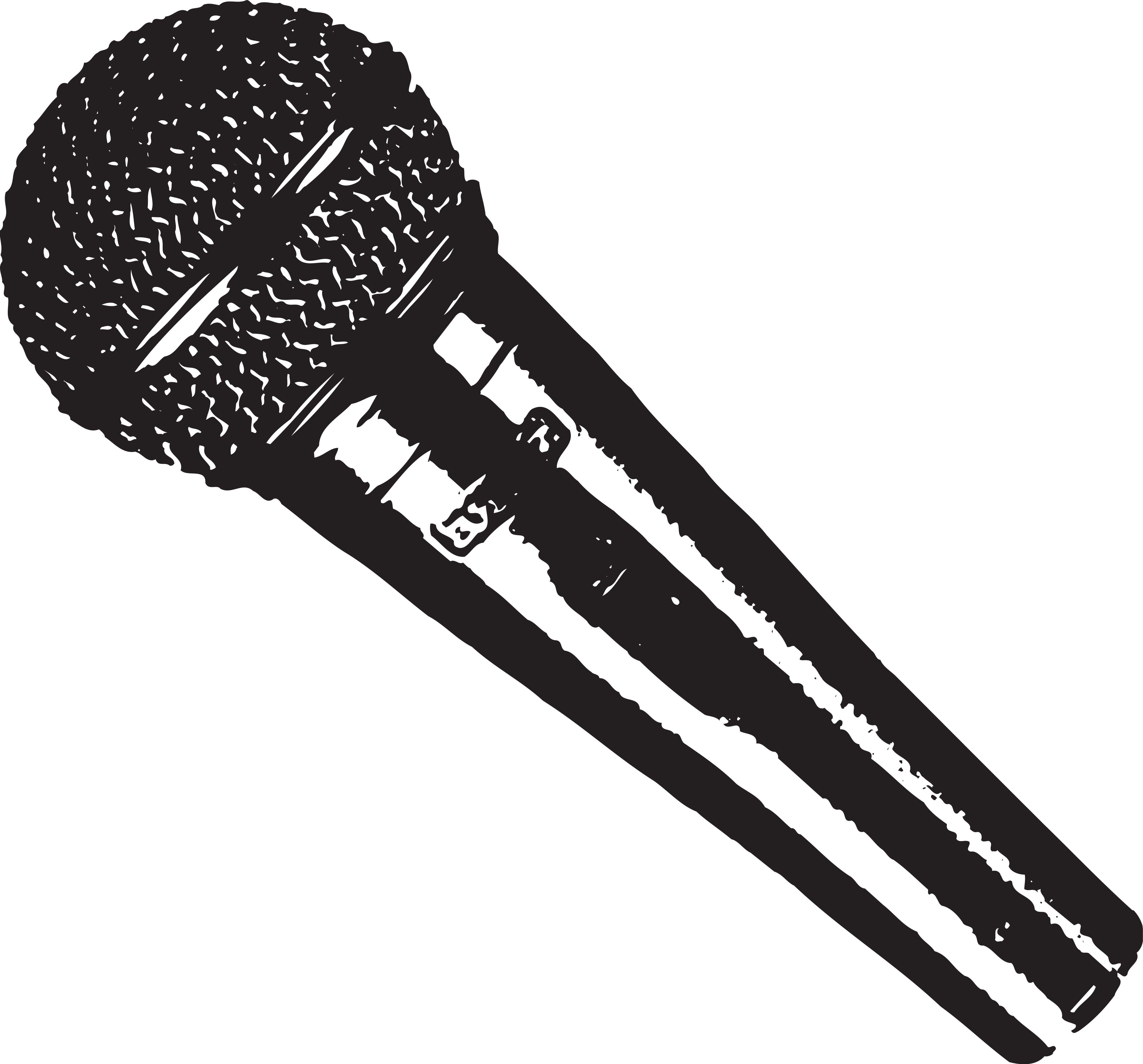 5000x4657 Microphone Vector Design Poster