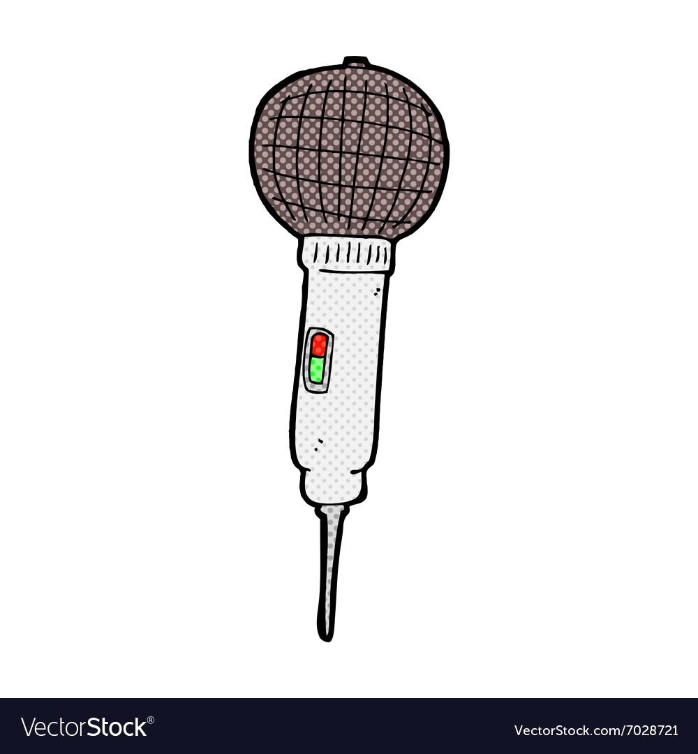 1000x1080 Comic Cartoon Microphone Vector 7028721 15
