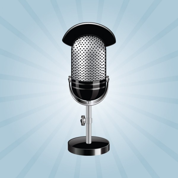 600x600 Free Photo Realistic Studio Microphone Vector