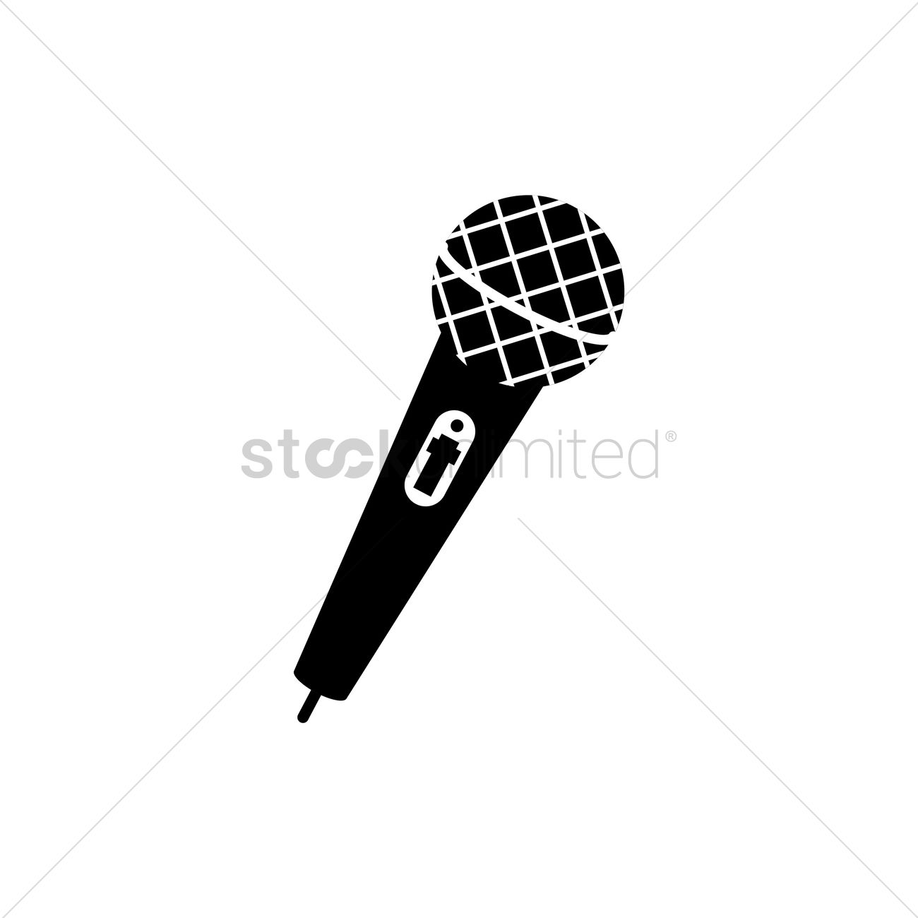 1300x1300 Free Silhouette Of Microphone Vector Image