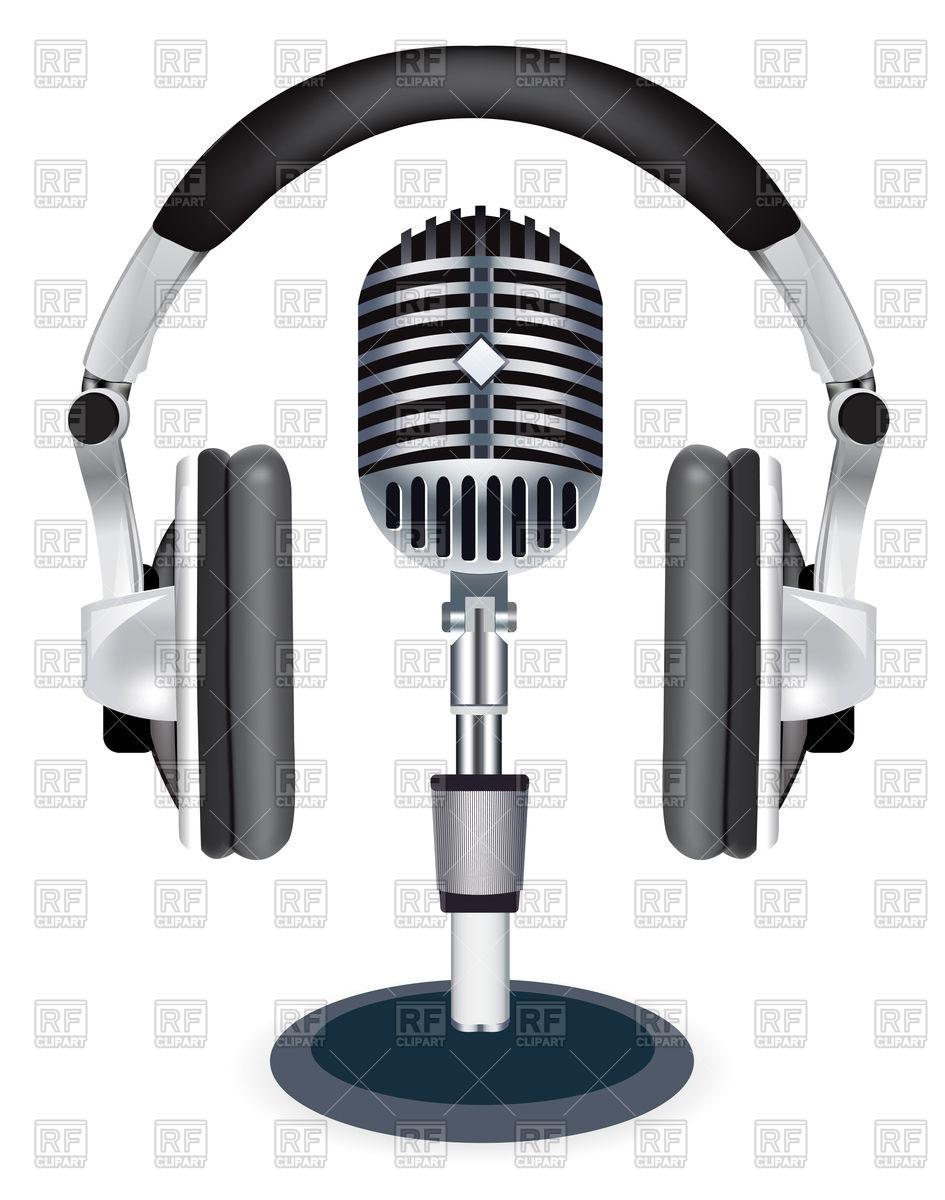 945x1200 Headphones With Microphone Vector Image Vector Artwork Of