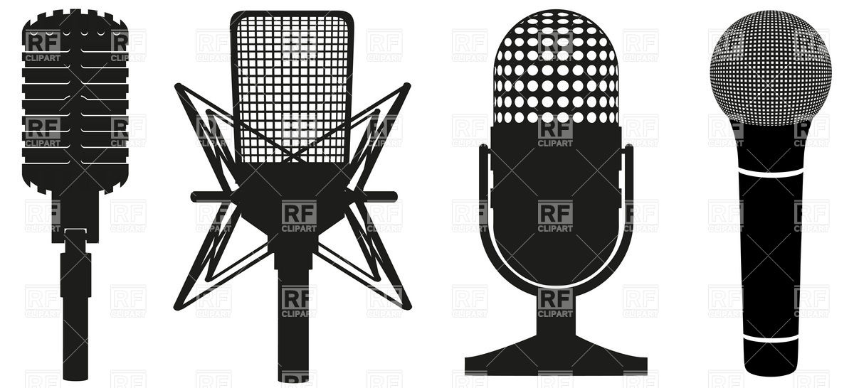 1200x546 Icon Set Of Microphones Vector Image Vector Artwork Of Objects
