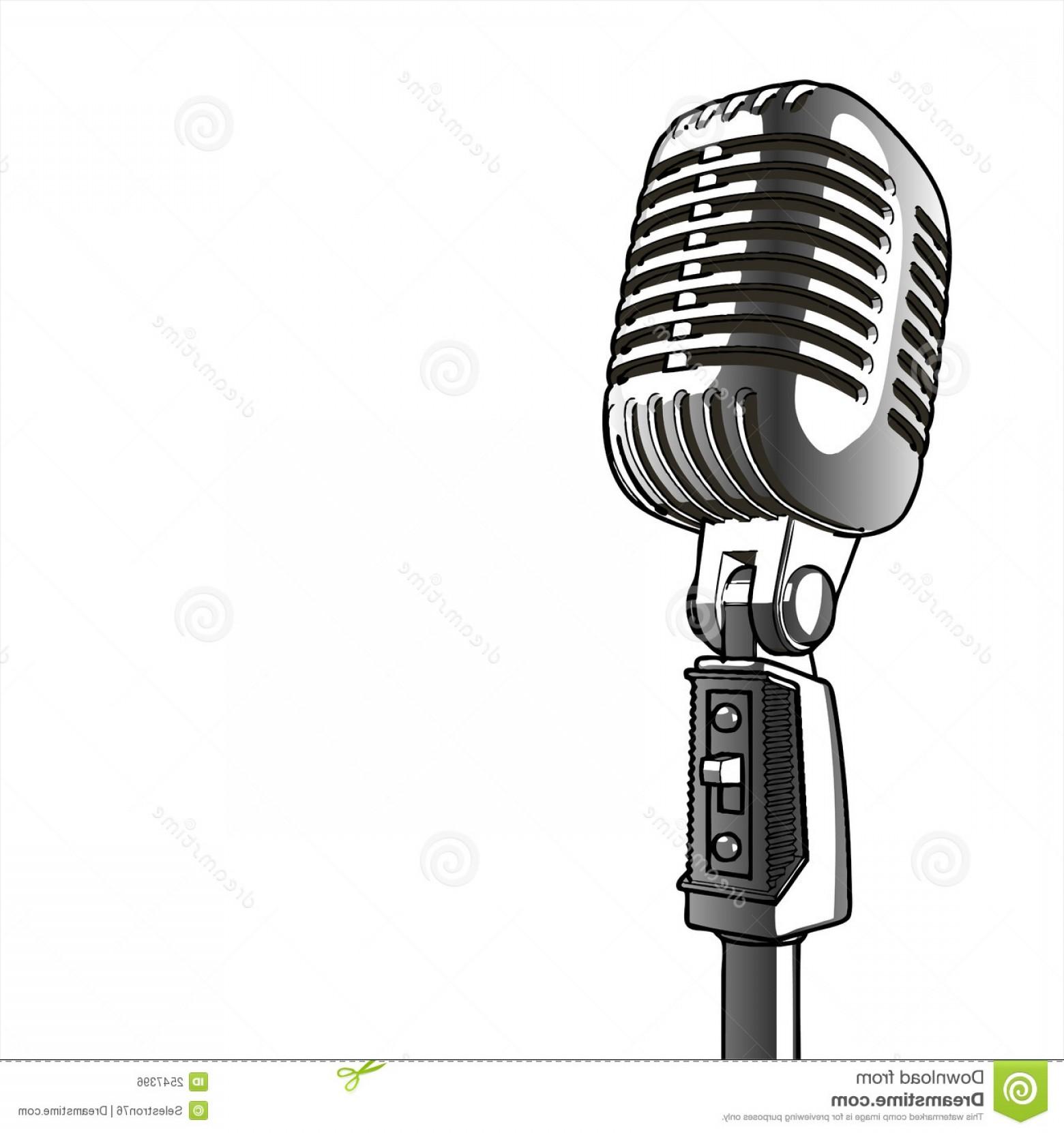 1560x1662 Retro Microphone Vector Sohadacouri