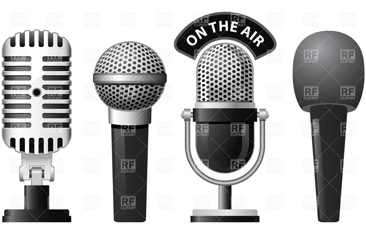 1200x744 Retro And Modern Microphones Vector Image Vector Artwork Of