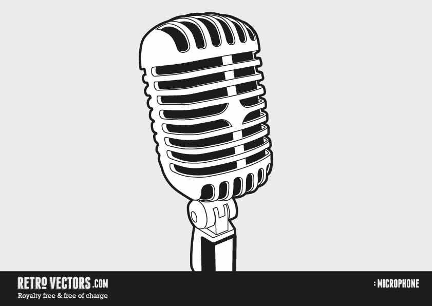 841x596 50s60smicrophone School Events Free Microphone Vector
