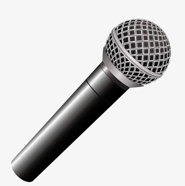 650x651 Vector News Black Microphone, Black Vector, Microphone Vector