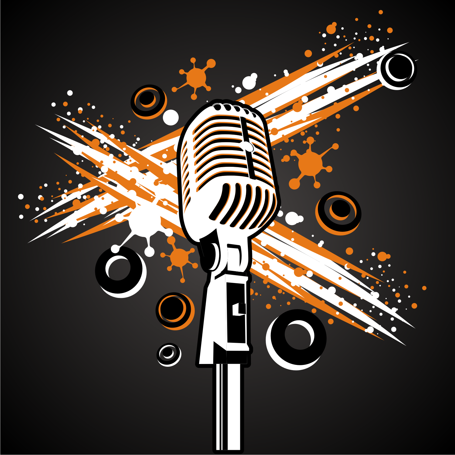 1500x1500 Vector For Free Use Vintage Microphone Vector