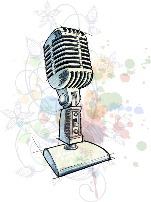 600x800 Free Vector Hand Microphone Vector Graphic Available For Free