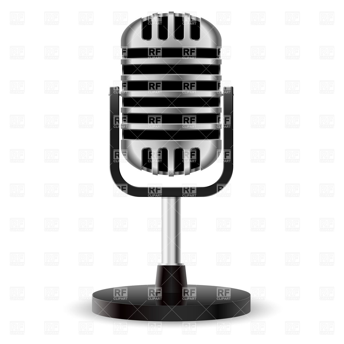 1200x1200 Benchtop Retro Microphone Vector Image Vector Artwork Of Objects