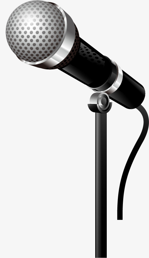 508x881 Drawn Microphone Vector