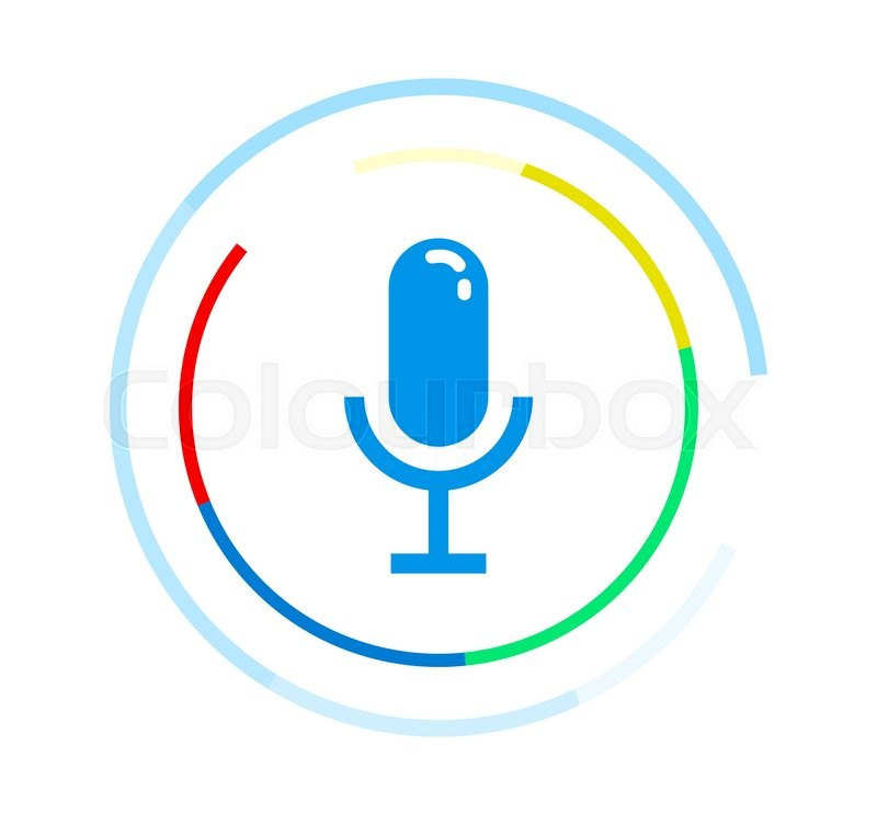 800x744 Microphone Vector Icon. Voice Control Application Logo Concept
