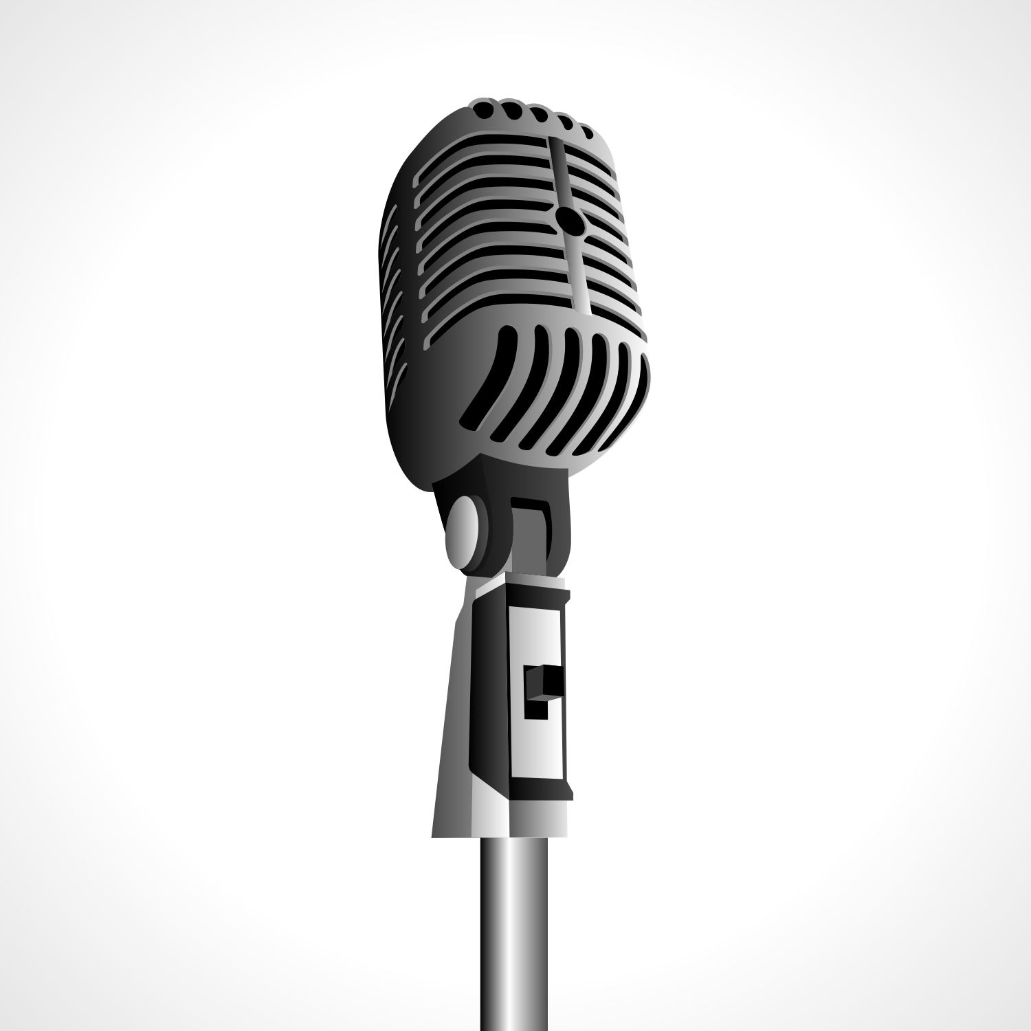 1500x1500 Vector For Free Use Vintage Microphone