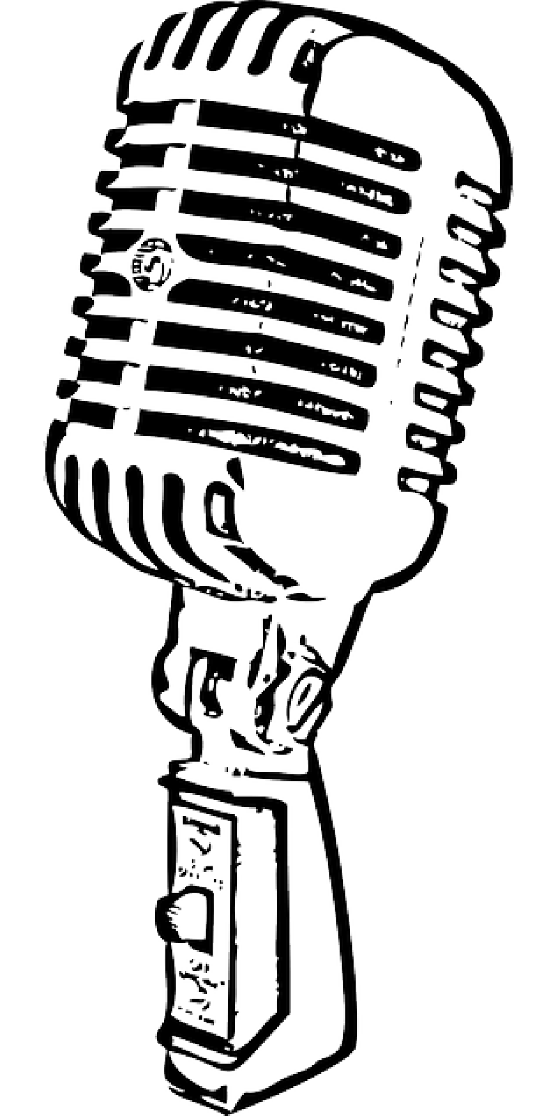 800x1600 Collection Of Free Mic Vector Outline. Download On Ubisafe