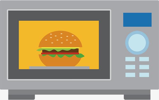 650x411 Hamburger In The Microwave Oven, Vector Png, Hamburger, Hamburger