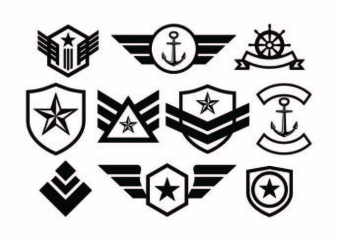 686x490 Free Military Badge Collection Vector