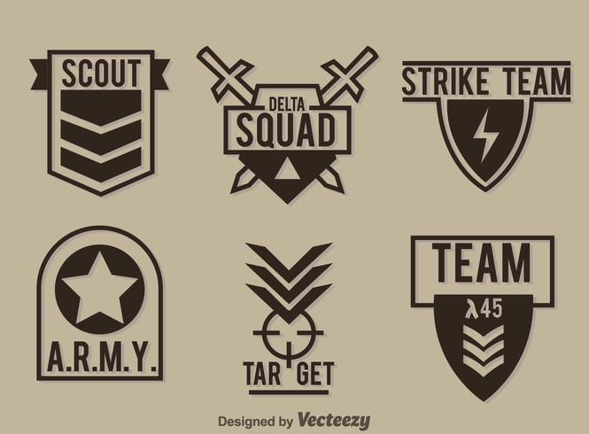 665x490 Military Badge Collection Vector