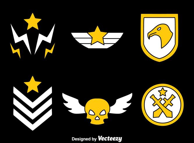 665x490 Military Badge On Black Vector