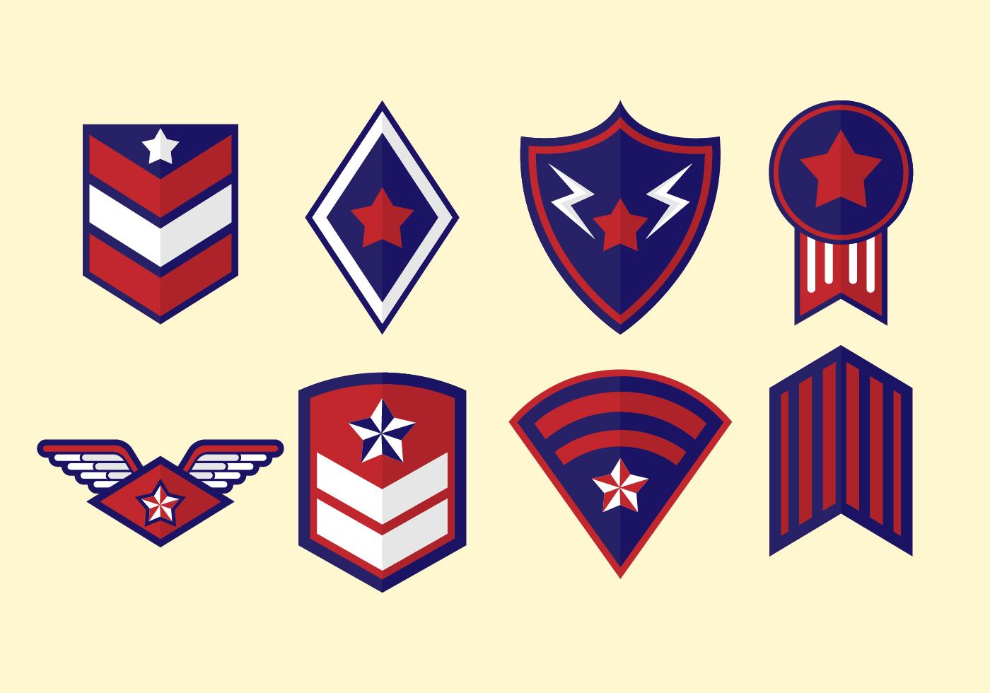 1400x980 Military Badges Free Vector Art