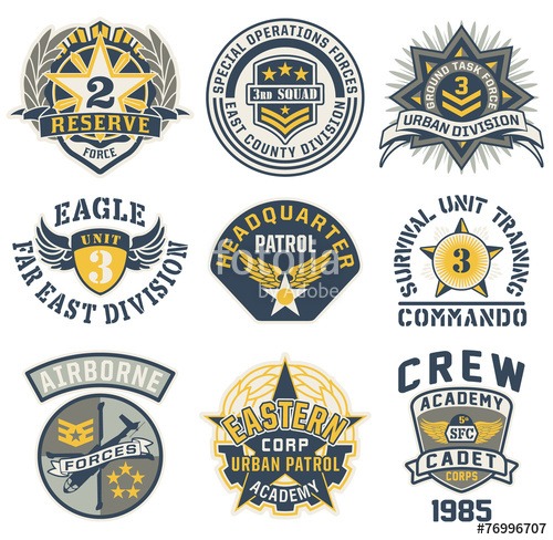 500x488 Military Style Patches Vector Collection Stock Image And Royalty