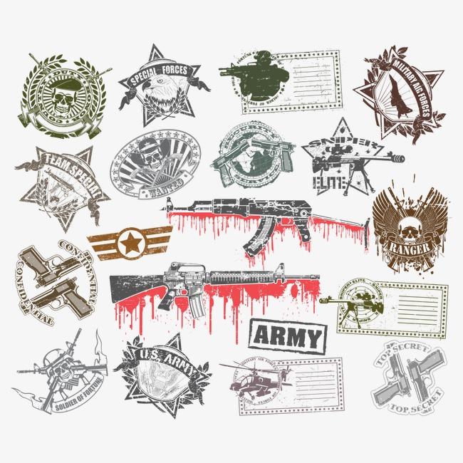 650x650 Vector Nostalgic Military Badge, Badge Vector, Reminiscence