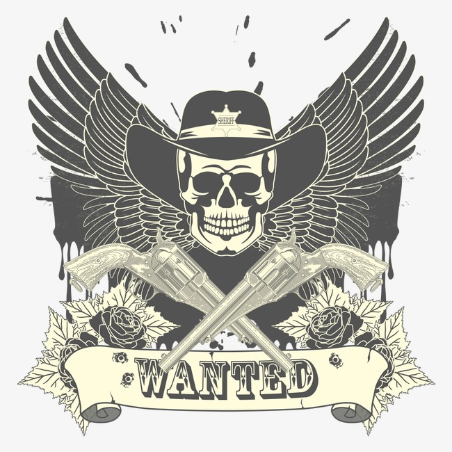 650x650 Vector Skull Wings, Logo, Vintage Military, Badge Png And Vector