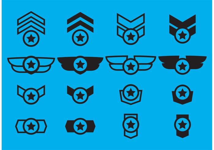 700x490 Winged Military Badge Vectors