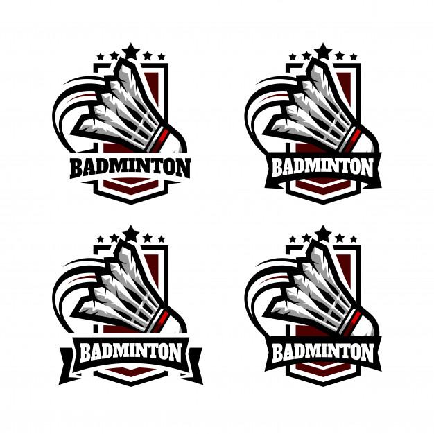 626x626 Badminton Military Badge Logo Vector Premium Download